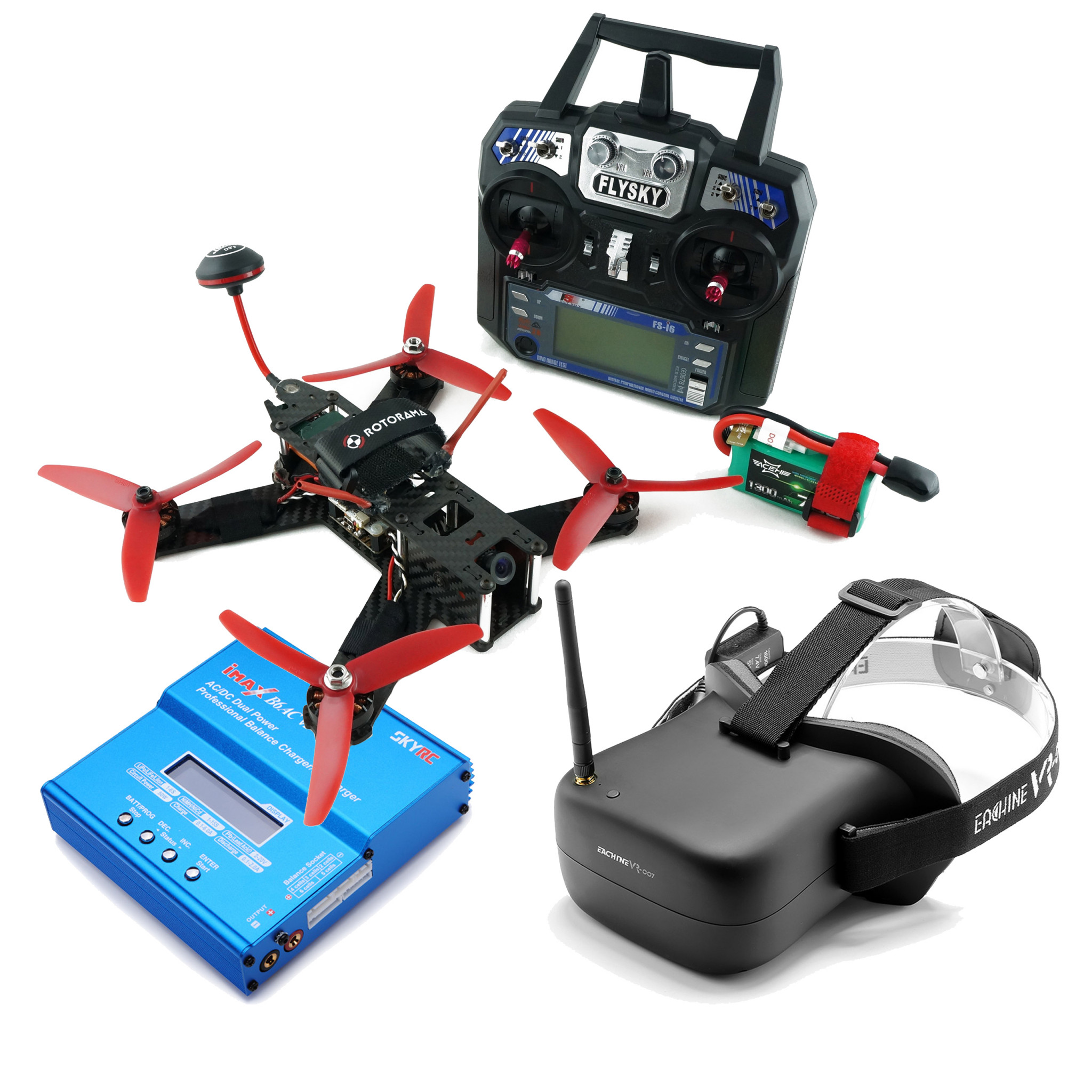 Mini 210 set RTF with FPV, RC, battery and headset